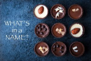 attractive names for chocolates