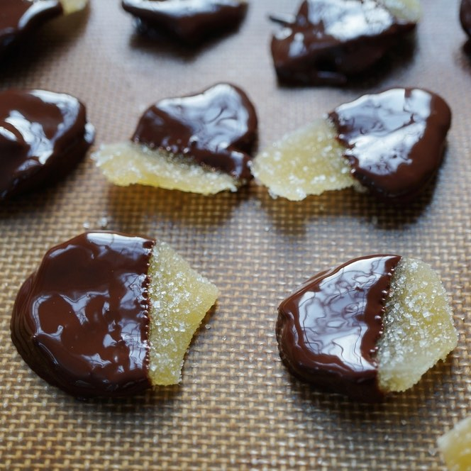 Dark Chocolate Ginger Candy